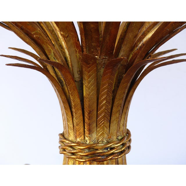 """Italian Gilt Iron """"Coco Chanel"""" Style Wheat Sheaf Coffee Table For Sale - Image 4 of 10"""