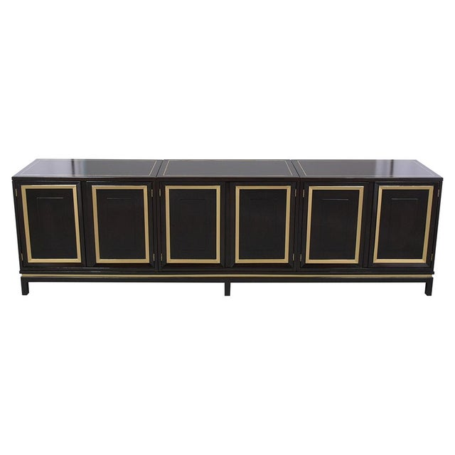 This vintage mid-century three-piece ebonized credenza is in great condition and has been professionally restored. This...
