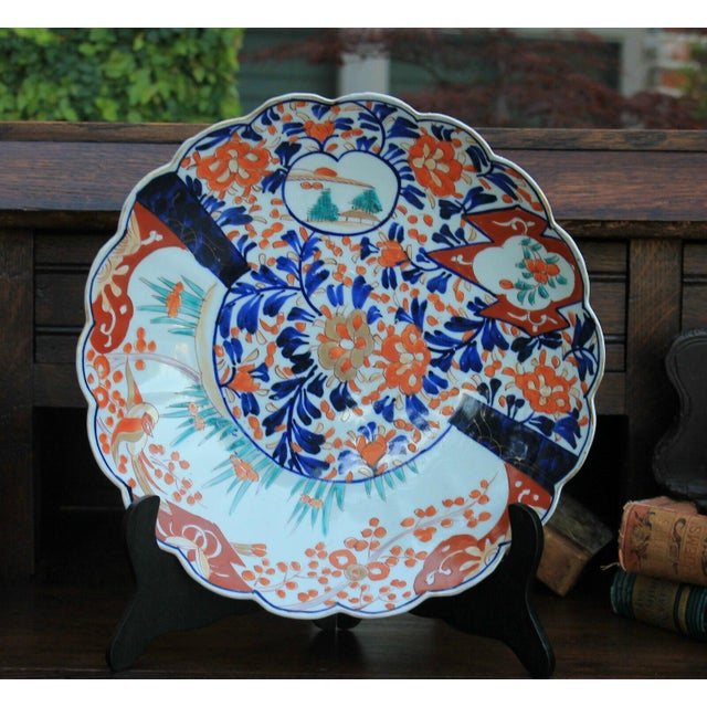 Antique 19th Century Imari Bowl Serving Dish Plate Charger Japan For Sale In Dallas - Image 6 of 12