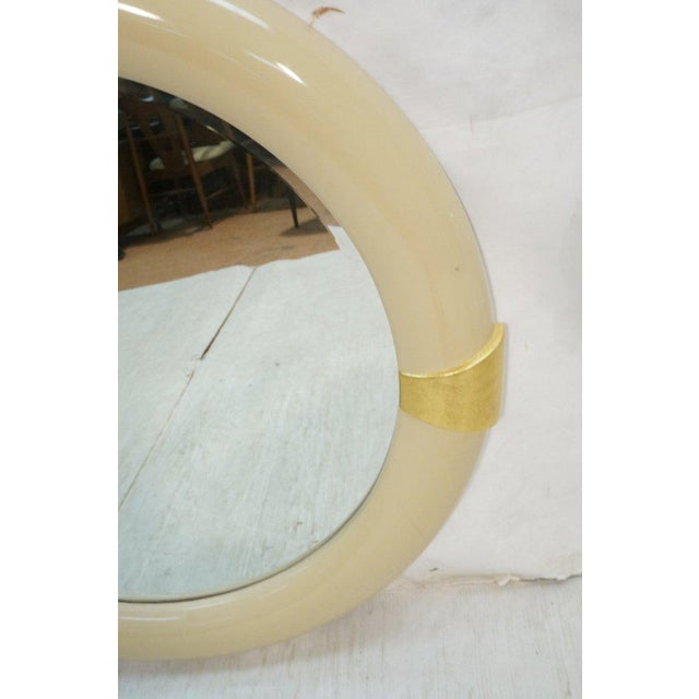 1970s Karl Springer Style Lacquered Mirror - Image 4 of 4