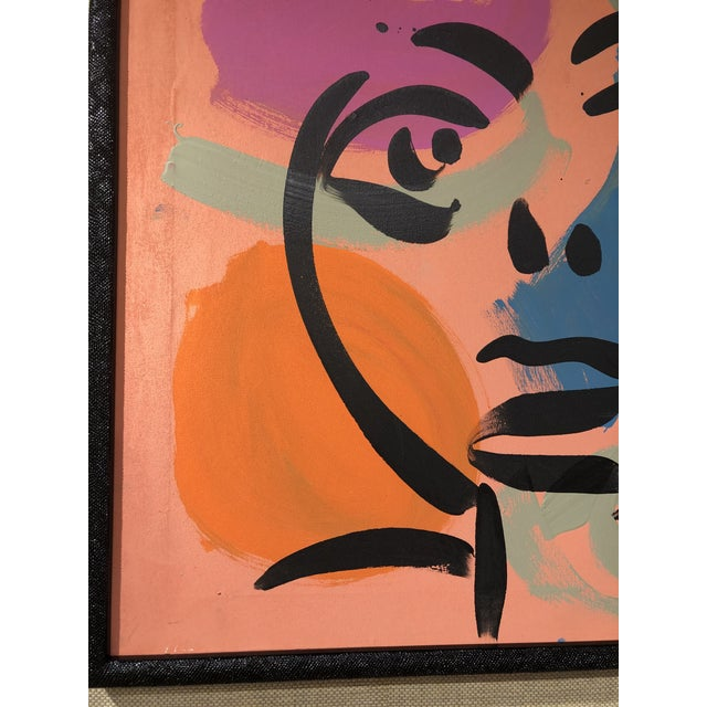 Abstract Peter Keil Abstract Facial Painting For Sale - Image 3 of 6
