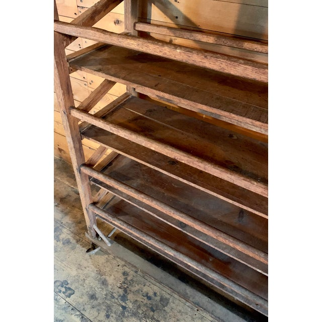 Vintage Wood Bakery Bread Rack For Sale - Image 4 of 11