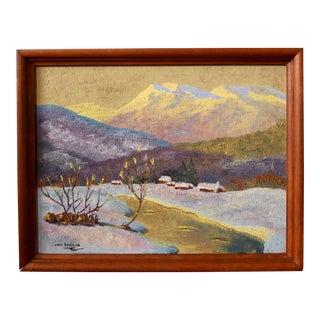Mid-Century Impressionist Landscape Oil Painting For Sale