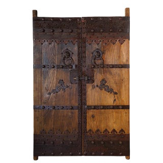 Chinese Antique Massive Court Yard Door Panels-A Pair For Sale