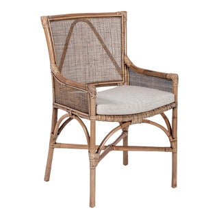 Java Arm Chair, Camel, Rattan For Sale