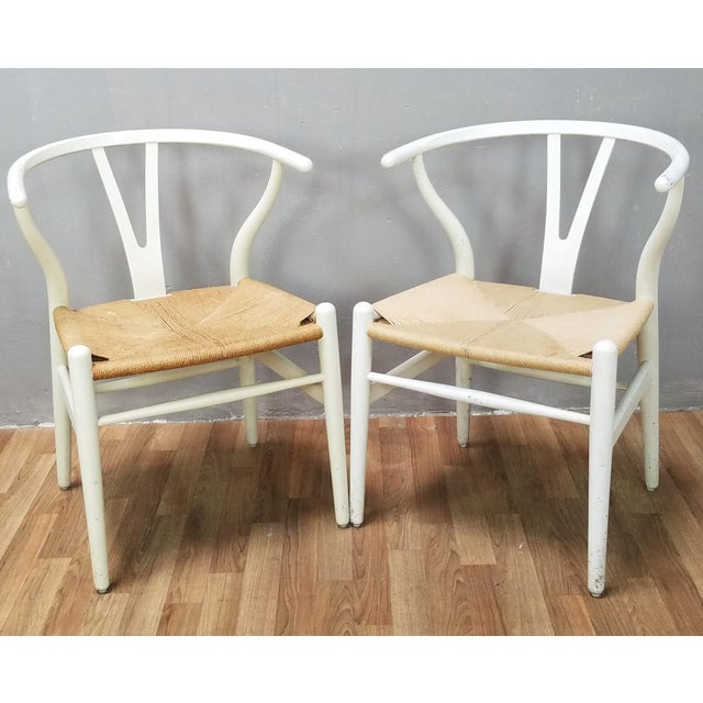 Mid-Century Danish Hans Wegner Wishbone Chairs - A Pair For Sale - Image 13 of 13