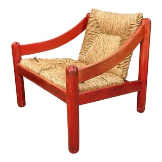 Mid Century Signed Cassina Italian Carimate Chair - Rush Seat