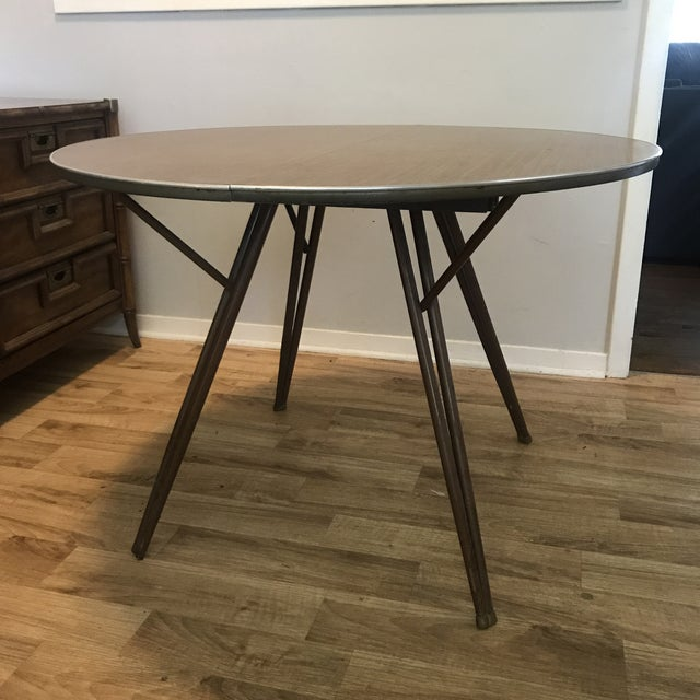 Atomic Retro Modern Formica Top Dining Table - Image 2 of 4