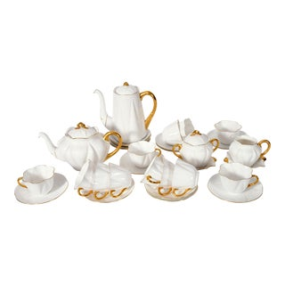 Vintage English Porcelain Tea / Coffee Service Service for 12 People - 36 Pc. Set For Sale