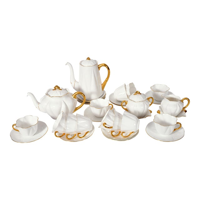 Vintage English Porcelain Tea / Coffee Service Service for 12 People - 36 Pc. Set For Sale