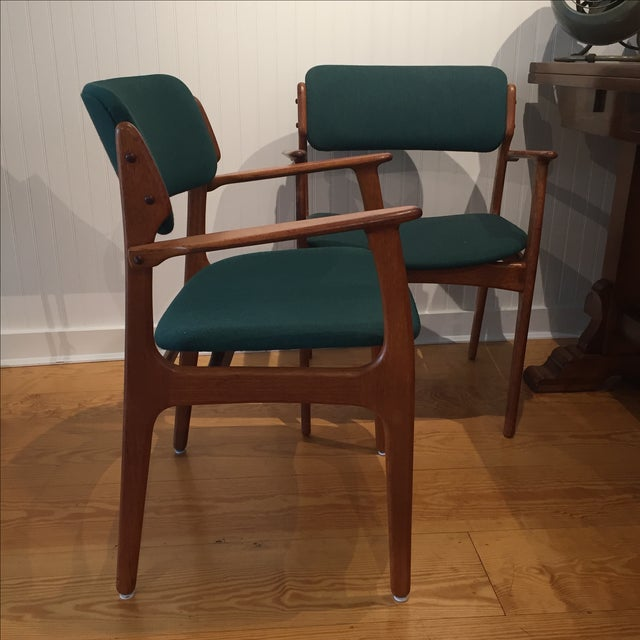 Danish Modern Erik Buch Chairs - Set of Two - Image 3 of 11