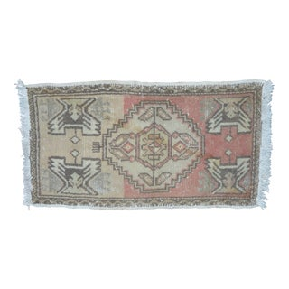 Turkish Handwoven Oushak Carpet - 1′7″ × 2′11″