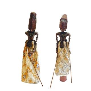 Vintage Indonesian Shadow Puppets - A Pair