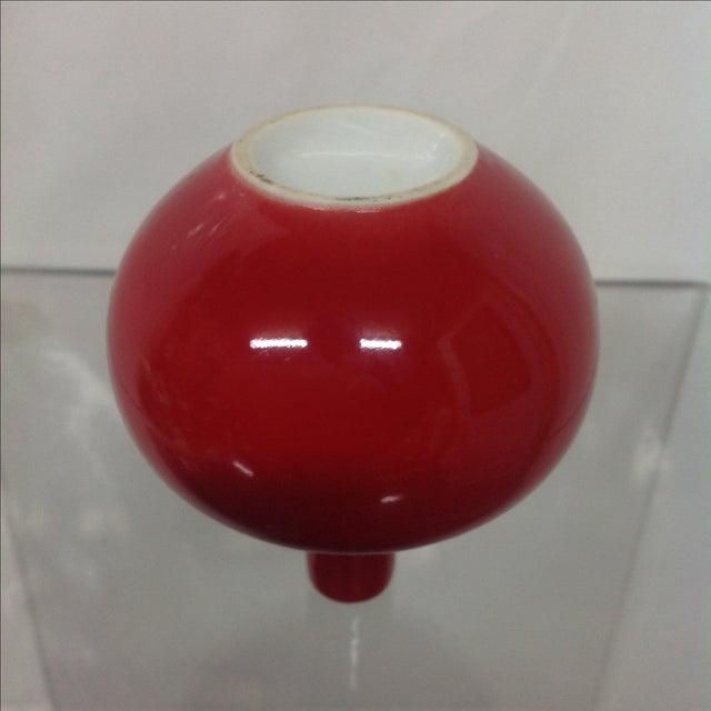 Antique Asian Red Glazed Porcelain Vase - Image 4 of 5