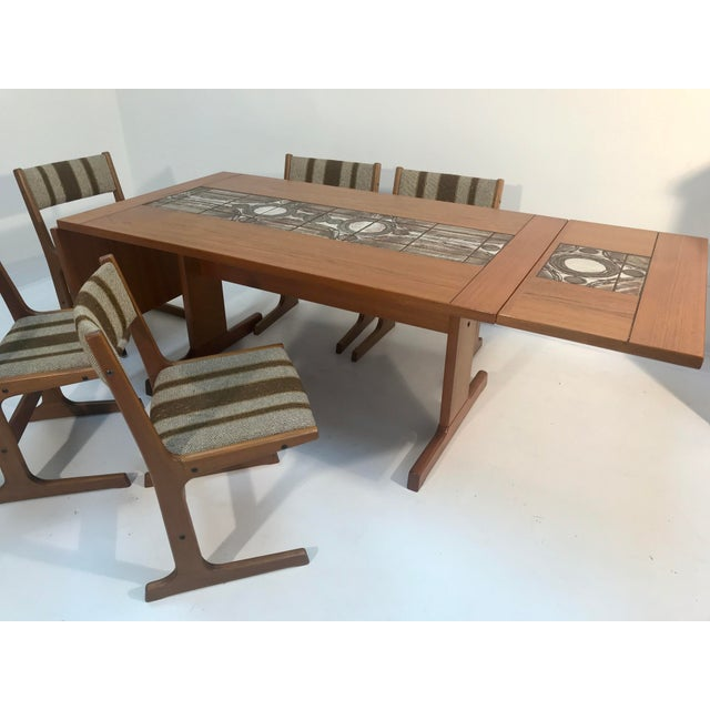 Contemporary 1970s Danish Modern Gangso Mobler Teak Dining Set - 6 Pieces For Sale - Image 3 of 7