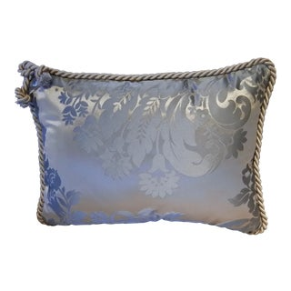 "Pierre d'Argent Maison Accent Pillow in Blue Damask ""Erica Sky"" by Missoni For Sale"