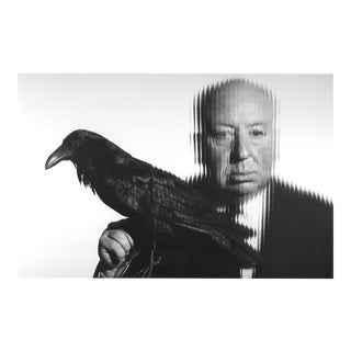 Alfred Hitchcock Holding a Bird 1958 For Sale