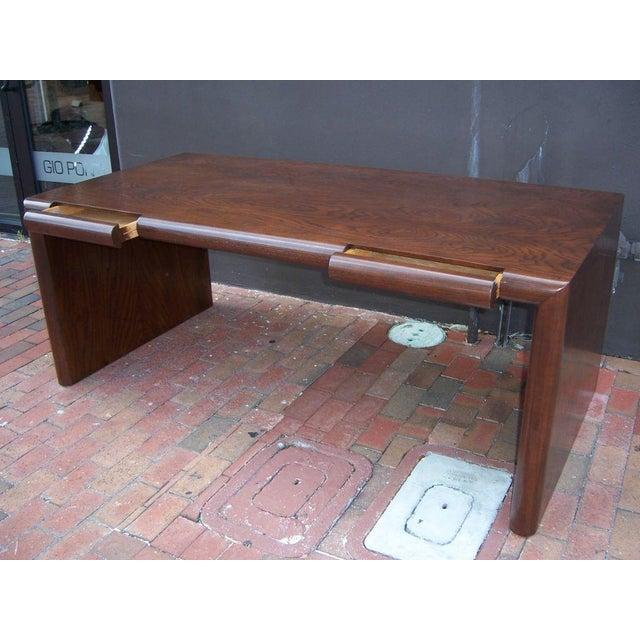 1960s Edward Axel Executive Oversized Desk For Sale - Image 5 of 5