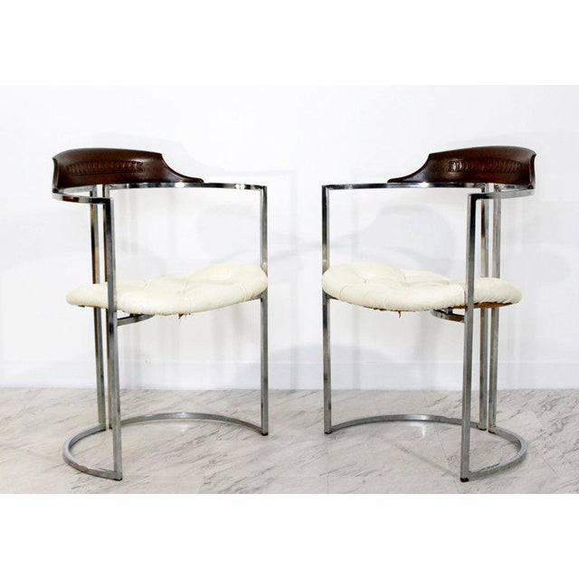 Silver 1970s Mid-Century Modern Daystrom Chrome Wood Laminate Dinette Set For Sale - Image 8 of 13