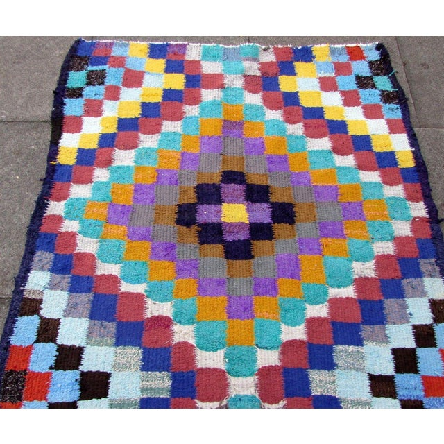 Handmade vintage Persian Ardabil flat-weave in colourful shades. The rug is from the end of 20th century in original good...