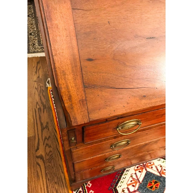Brown 18th Century Antique George III Mahogany Bureau For Sale - Image 8 of 9