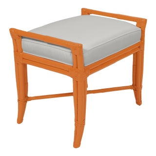 Small Malacca Bench - Orange For Sale