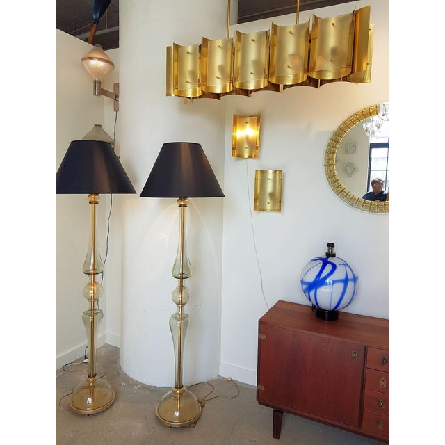 Blown Glass d'Lightus Bespoke Brass and Frosted Glass 12 Lights Chandelier For Sale - Image 7 of 9