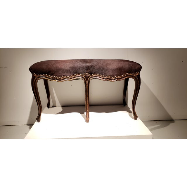 Late 19th Century French Louis XV Style Bench For Sale - Image 4 of 10