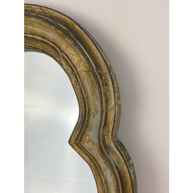 French Style Gilt Mirror With Floral Details For Sale In Los Angeles - Image 6 of 12
