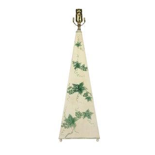 Abstract Grape Vines Obelisk Lamp For Sale
