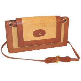C.1970 Roberta DI Camerino Full Leather Envelope Style Handbag For Sale