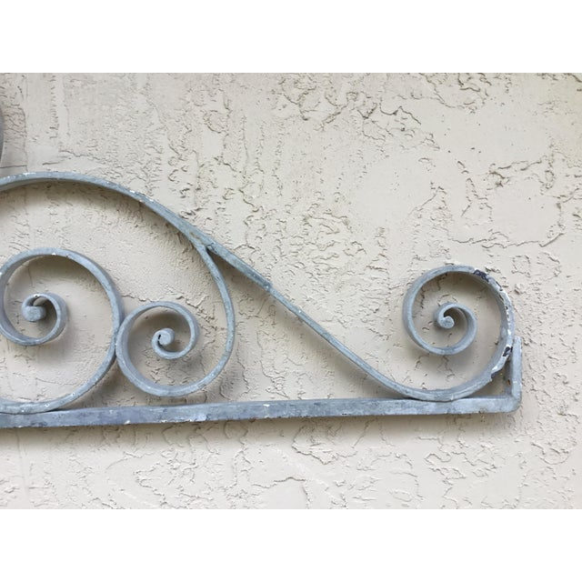 1950s 1950s Asian Wrought Iron Wall Hanging For Sale - Image 5 of 13