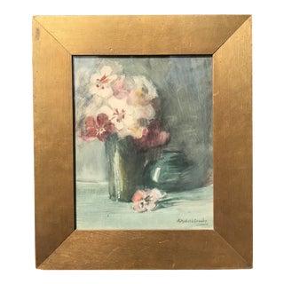 Elizabeth Crosby Still Life Flower Painting For Sale