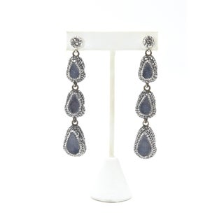 Druzy Quartz and Crystal Sterling Silver Cuff Bracelet & Earrings Preview