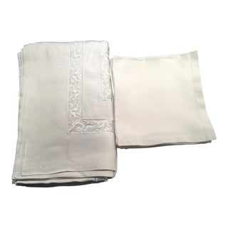 Frette Italy Tablecloth & Napkins Set of 12
