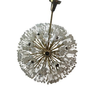 Mid-Century Extra Large Emil Stenjar Starburst Chandelier For Sale