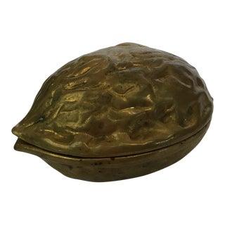 Vintage Mid-Century Brass Walnut Nutcracker For Sale