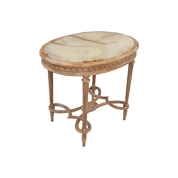 Louis XVI Onyx Accent Table - Image 4 of 6