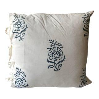 Indigo Block Print-Euro Size Pillow
