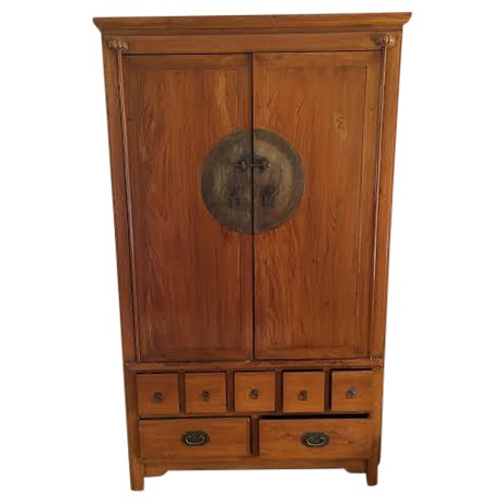 Chinese Medallion Cabinet/Armoire - Image 1 of 6