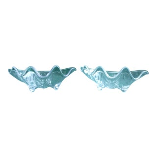 Vintage Lucite Clamshell Bowls - A Pair