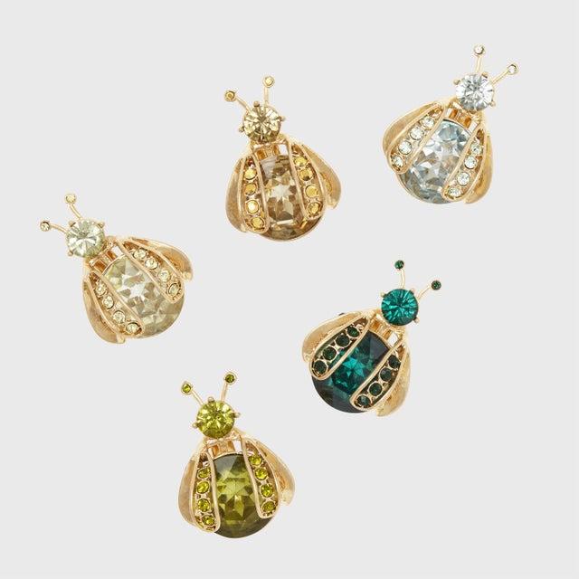 Gold Mini Bug Clip Set, Garden Green - Set of 5 For Sale - Image 8 of 8