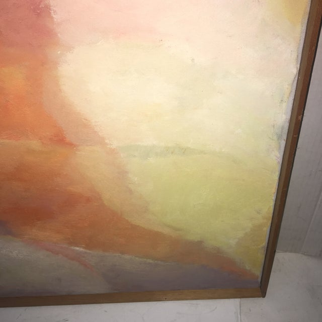 Canvas 1960s Vintage Abstract Oil on Canvas Painting by Lillian Manney For Sale - Image 7 of 9