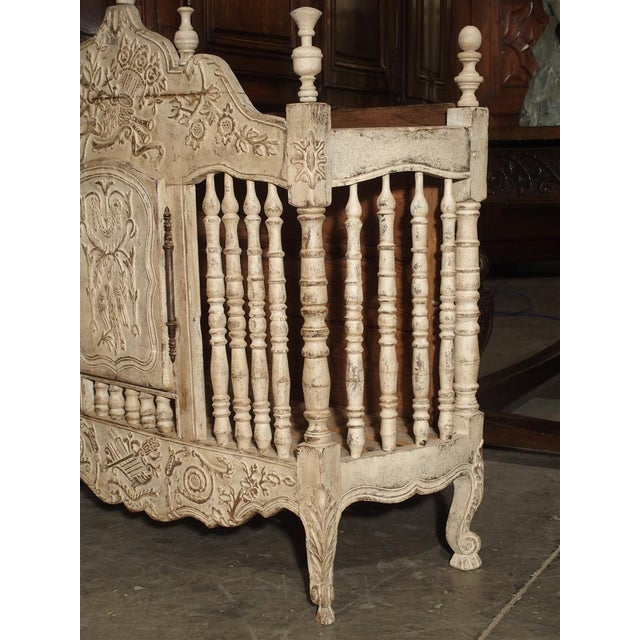 White Painted 19th Century Panetiere From Provence, France For Sale - Image 8 of 13