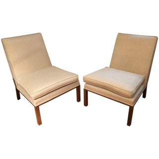 Edward Wormley for Dunbar Mid-Century Modern Slipper Chairs - a Pair