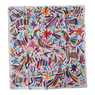 Multicolor Tenango Textile III For Sale