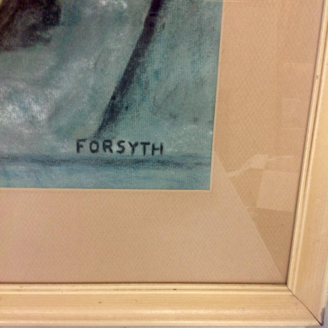Original Forsyth Pastel Drawing on Strathmore Paper For Sale - Image 4 of 5