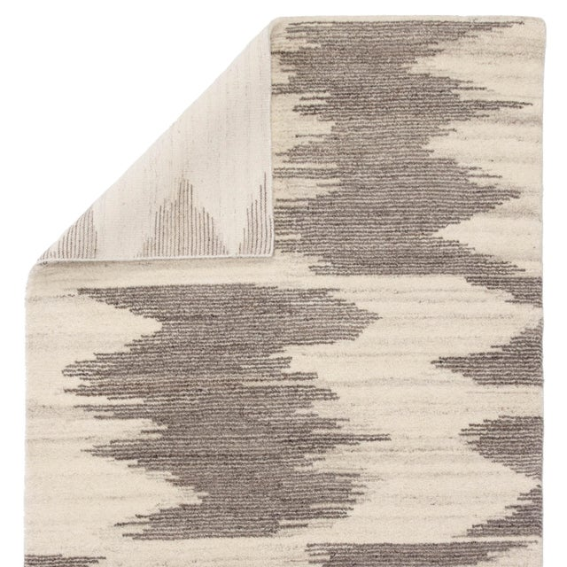 "Jaipur Living Ozark Hand-Knotted Geometric Ivory & Light Brown Area Rug - 7'9""x9'9"" For Sale - Image 4 of 6"