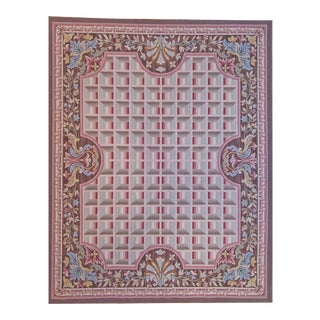 """Pasargad Aubusson Hand Woven Wool Rug - 9' 9"""" X 13'11"""""""