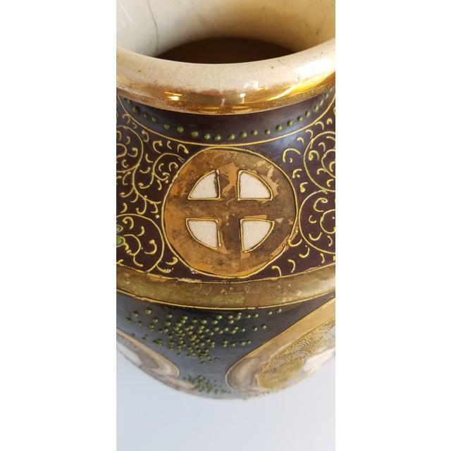 Early 20th Century Satsuma Century Japanese Vase For Sale - Image 11 of 13